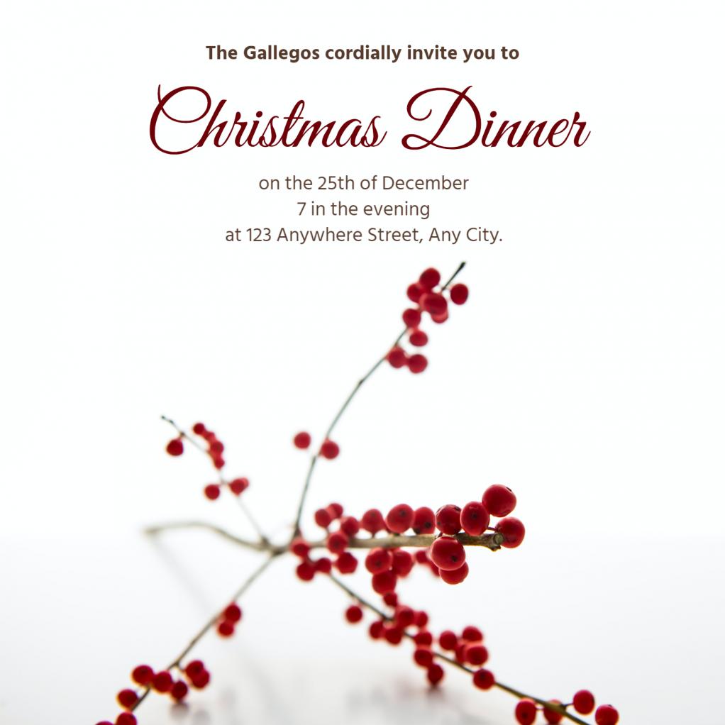 christmas-dinner-for-online-invitation-maker